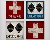 SKI PATROL Snowboard Graphic Art Stretched Canvas Ready-To-Hang Choose From 4 Designs