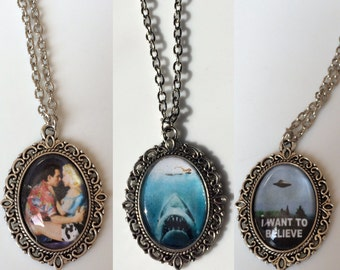 Handmade Pendant Necklaces Jaws/true romance / i want to believe