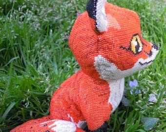 Red Fox Doll 3D Cross Stitch Animal Sewing Pattern PDF