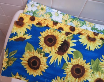 Yellow Sunflower Toilet Tank Runner Blue Toilet Tank Topper Yellow Daisy Toilet Tank Runner Blue Yellow Toilet Tank Runner