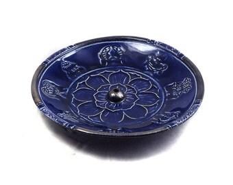 Incense Burner Lotus Handmade Ceramic Pottery
