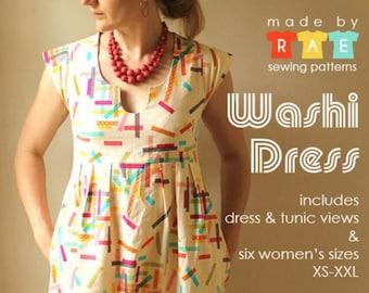 Made by Rae Washi women's Dress / Tunic Pattern (paper)
