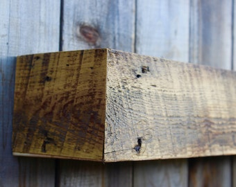 """READY to SHIP - Special Edition - Navajo Barn Wood - 100 + Year Old Wood - Rustic Old Wood - Floating Wall Shelf - 32"""""""