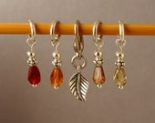Drops of Autumn Limited Edition Stitch Markers for Knitting