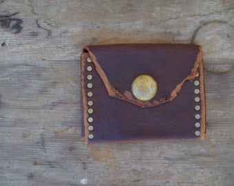 Woodland Oiltan Pouch --  leather burning man wasteland weekend tribal steampunk huntress viking renaissance costume apocalyptic