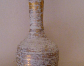 Vintage Gold Art Pottery Bud Vase by Royal Haeger 22K