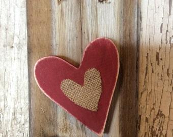Rustic barn board with shabby heart