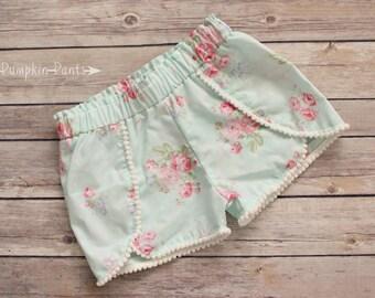 Vintage Roses Pom Pom Shorts