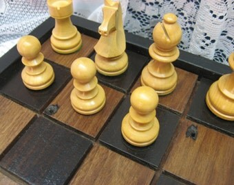 Black Walnut Chess Set From Reclaimed 1800's Barn Beams