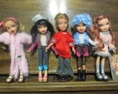 SALE!!!! Bratz Dolls x 5. All fully dressed and with shoes. Great for B-day, Christmas or ? Gift