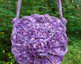 Victorian Flowers and Shells Bag - PA-212 - Crochet Pattern PDF
