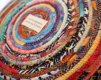 Large Multicolor Fabric Basket