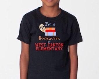 Reading T shirt, Bookworm shirt, Read Across America shirt, personalized shirt, school  shirt, kids shirt, book lover's shirt