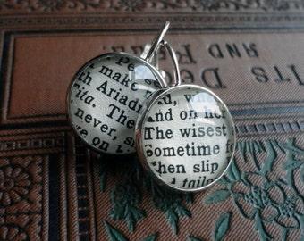 Book Jewelry, Shakespeare Bronze Earrings, English Literature, Graduation or Teacher Gift Idea