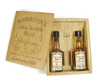 Robinson's Extra Scotch Maid Perfume in Wooden Box