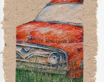Derelict 6 in Color on Handmade Paper