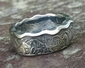 Coin Ring - 1981 Australian 50 Cents Coin Ring - Size: 10