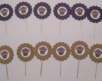 Cupcake Toppers Set of 12