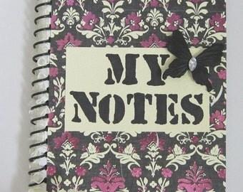 My Notes Spiral Bound Altered Notebook