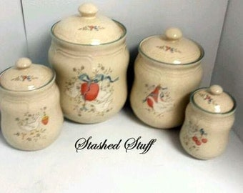 Marmalade Canister Set/International China/Marmalade Goose/4 Piece Set