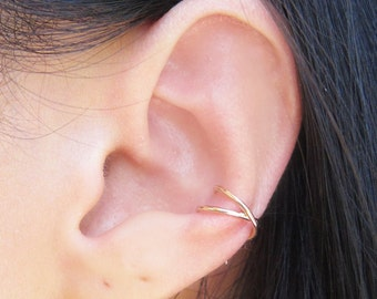 Gold Filled X Ear Cuff