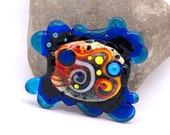 RESERVED for Cheryl ......AGAUE - (Ancient Greek) - Glass Art - Lampwork focal bead by Michou P. Anderson