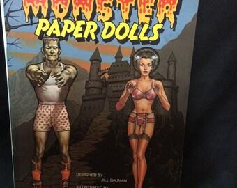 Monster Paper Dolls book brand new/unused - 1983