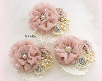 Corsage, Ivory, Rose, Cream, Pink, Blush, Button Hole,Mother of the Bride, Groom,Bridesmaids, Maid of Honor, Elegant Wedding, Vintage Style