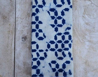Cloth napkins blue napkin SAMPLE SALE indigo modern cotton table linen home block print dining table organic cotton napkin - Blue TRAIL