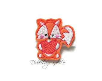 Orange Fox Hair Clip, Animal Hair Clip, Fox With Heart Hair Clip, Girls Orange Fox Hair Clip, Girls Hair Accessories, Felt Fox Hair Clip,
