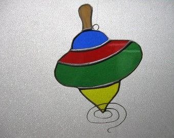 Spinning Top Stained Glass suncatcher
