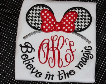 Minnie and Mickey Believe in the Magic tshirt or ruffle dress- boy or girl version