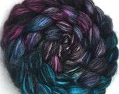 Spinning Fiber - Alpaca & Tussah Silk Combed Top - Northern Lights