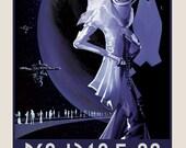 "One NASA ExoPlanet Travel Poster - ""Nightlife"" PSOJ318.5-22"