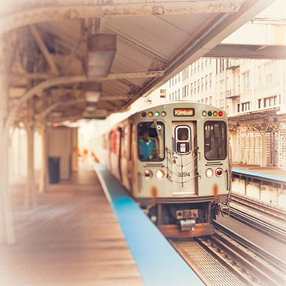 Chicago photography kimball brown line train art wall art like this item sciox Gallery