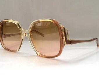 SALE 50% OFF - 80's Vintage Sunglasses with Bold Statement Design Frame