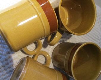 Vintage Cups/Mugs / SUNBURST AUTUMN Crest Stone 1960/70 Stoneware Japan