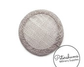 Mini 6.5cm Sinamay Hat Base for Fascinators & Millinery - Pewter Grey