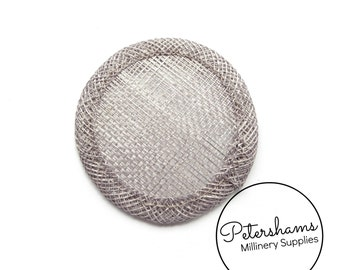 Mini 6.5cm Sinamay Hat Base for Fascinators & Millinery - Pewter Grey