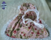 Granny from Little Red Riding Hood, Dress and Bonnet Set