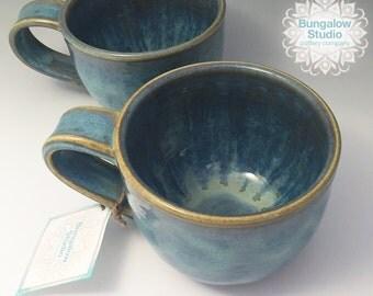 Ceramic Coffee Mug in Handmade, Pottery Mug, Pottery Gift, Gift for Coffee Lover,