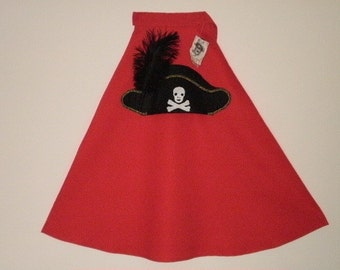 Child's Pirate Cape with Eyepatch Pirate Pirate Cape Pirate Costume Children's Pirate Costume Cape Pirate Eye Patch
