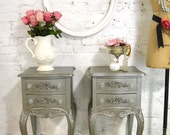 Painted Cottage Chic Shabby Romantic French Night Table NT839