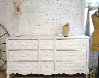 Painted Cottage Chic Shabby French Dresser DR879