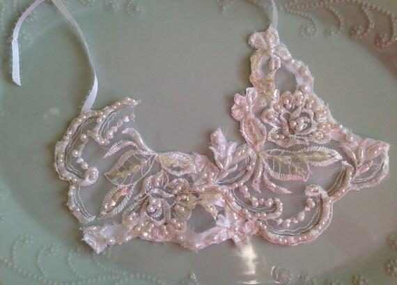 White Lace Bib Statement Necklace