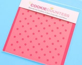 Mini Polka Dot Cookie Stencil, Polka Dot Sugar Cookie Stencil, Polka Dot Fondant Stencil, Cookie Countess Cookie Stencil, Polka Dot Stencil