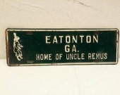 1955 Eaton GA. Home of Uncle Remus License Plate