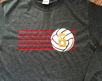 Volleyball long sleeve t shirt