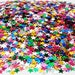 multicolor shiny stars 4mm 2000 pieces sparkling loose glitter shaker pockets flip books scrapbook ship from USA