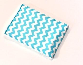 Aqua Baby Girl Burp Cloth Diaper Baby Accessories Chevron Burp Rag Baby Shower Gift, Baby Items